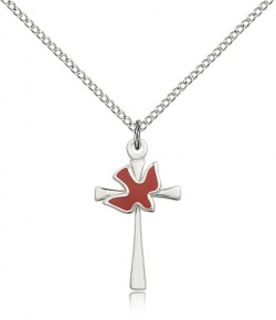 Holy Sprit Cross Pendant, Sterling Silver [BL6219]