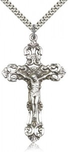 Large Sterling Silver Crucifix Pendant [BL4711]