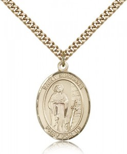 St. Susanna Medal, Gold Filled, Large [BL3718]