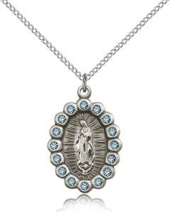 Our Lady of Guadalupe Medal, Sterling Silver [BL5300]