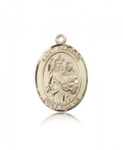 St. Raphael the Archangel Medal, 14 Karat Gold, Large [BL3159]