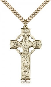 Celtic Cross Pendant, Gold Filled [BL6371]