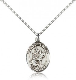 St. Martin of Tours Medal, Sterling Silver, Medium [BL2793]