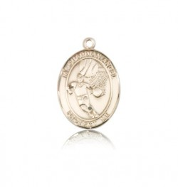 Guardian Angel Basketball Medal, 14 Karat Gold, Medium [BL0089]