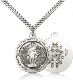 Miraculous Medal, Sterling Silver [BL5748]