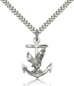 Anchor Eagle Medal, Sterling Silver [BL6471]