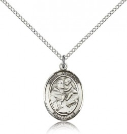 St. Anthony of Padua Medal, Sterling Silver, Medium [BL0769]