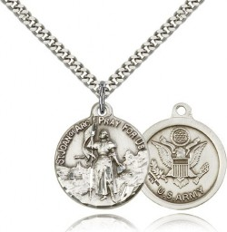 St. Joan of Arc Army Medal, Sterling Silver [BL4210]