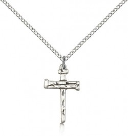 Nail Cross Pendant, Sterling Silver [BL4000]