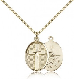 Army Cross Pendant, Gold Filled [BL5007]