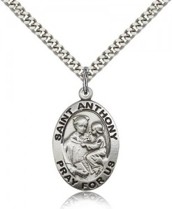 St. Anthony of Padua Medal, Sterling Silver [BL5640]