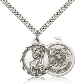 St. Christopher Coast Guard Medal, Sterling Silver [BL4188]
