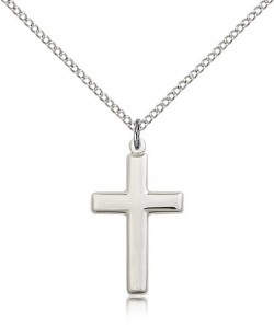 Cross Pendant, Sterling Silver [BL5392]
