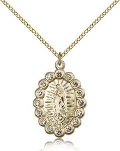 Our Lady of Guadalupe Medal, Gold Filled [BL5301]