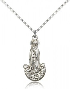 Our Lady of Fatima Medal, Sterling Silver [BL6617]