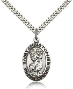 St. Christopher Medal, Sterling Silver [BL5637]