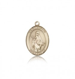 St. Amelia Medal, 14 Karat Gold, Medium [BL0682]