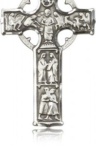 Celtic Cross Pendant, Sterling Silver [BL6373]