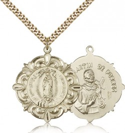 Our Lady of Guadalupe Medal, Gold Filled [BL5139]