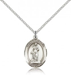 St. Barbara Medal, Sterling Silver, Medium [BL0832]