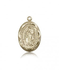 Our Lady of Guadalupe Medal, 14 Karat Gold [BL4865]