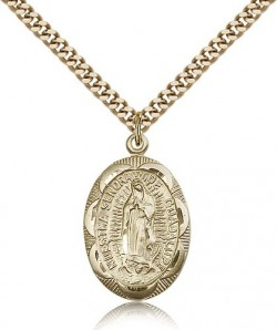Our Lady of Guadalupe Medal, Gold Filled [BL4864]