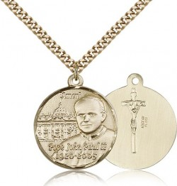 Pope John Paul II Vatican Medal, Gold Filled [BL5121]