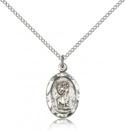 St. Christopher Medal, Sterling Silver [BL4606]