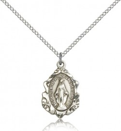 Miraculous Medal, Sterling Silver [BL4922]