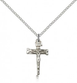 Nail Crucifix Pendant, Sterling Silver [BL4127]