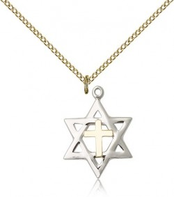 Star of David Medal, Two-Tone [BL5144]