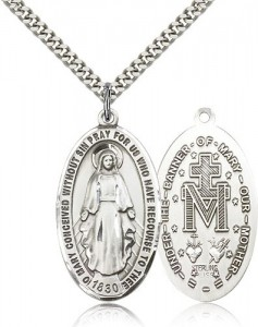 Miraculous Medal, Sterling Silver [BL4477]