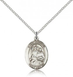 St. Raphael the Archangel Medal, Sterling Silver, Medium [BL3166]