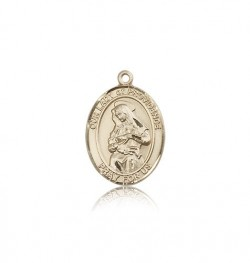 Our Lady of Providence Medal, 14 Karat Gold, Medium [BL0436]