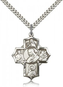 St. Philomena, St. Theresa, St. Rita, St. Anthony, St. Jude Medal, Sterling Silver [BL6421]