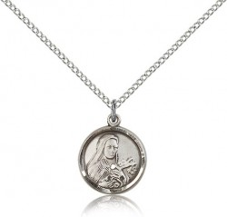 St. Theresa Medal, Sterling Silver [BL4579]