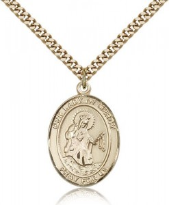 Our Lady of Mercy Medal, Gold Filled, Large [BL0384]