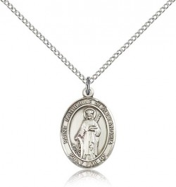 Women's Sterling Silver St. Catherine of Alexandria Medal [BL1034]