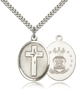 Air Force Cross Pendant, Sterling Silver [BL4841]