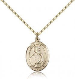 St. Thomas the Apostle Medal, Gold Filled, Medium [BL3809]