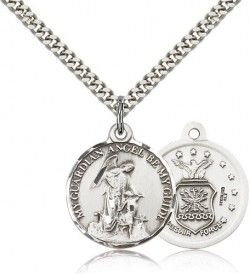 Air Force Guardain Angel Medal, Sterling Silver [BL4439]