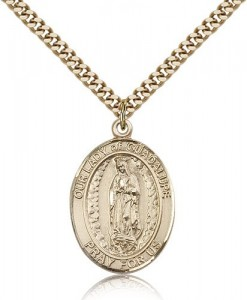 Our Lady of Guadalupe Medal, Gold Filled, Large [BL0312]