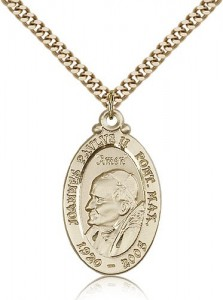 Pope John Paul II Medal, Gold Filled [BL5930]