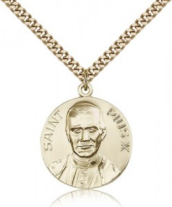 Pope Pius X Medal, Gold Filled [BL5027]