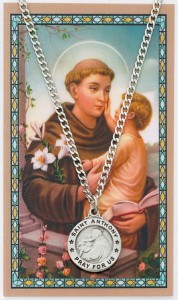 Round St. Anthony Medal with Prayer Card [MPC0110]