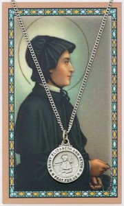Round St. Elizabeth Ann Seton Medal and Prayer Card Set [MPC0042]