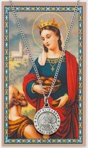 Round St. Elizabeth of Hungry Medal and Prayer Card Set [MPC0043]