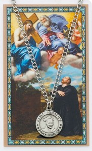 Round St. Ignatius of Loyola Medal and Prayer Card Set [MPCMV017]
