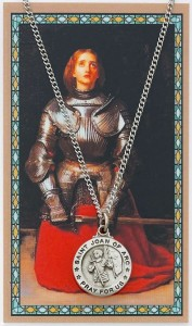 Round St. Joan of Arc Medal with Saint Story Card [MPC0050]