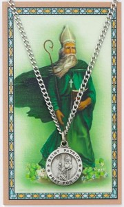 Round St. Patrick Medal and Prayer Card Set [MPC0059]